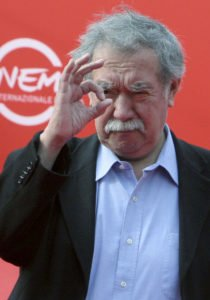 """FILE - In this Oct. 20, 2007 file photo, Chilean director Raoul Ruiz gestures before the screening of his film """"La Recta Provincia"""" at the Rome Film Festival. Raoul Ruiz, a French-Chilean filmmaker who directed John Malkovich in a role as Austrian artist Gustav Klimt and worked to put cinema on an artistic par with literature, has died, one of his producers said Friday, Aug. 19. 2011. (AP Photo/Sandro Pace, File)"""